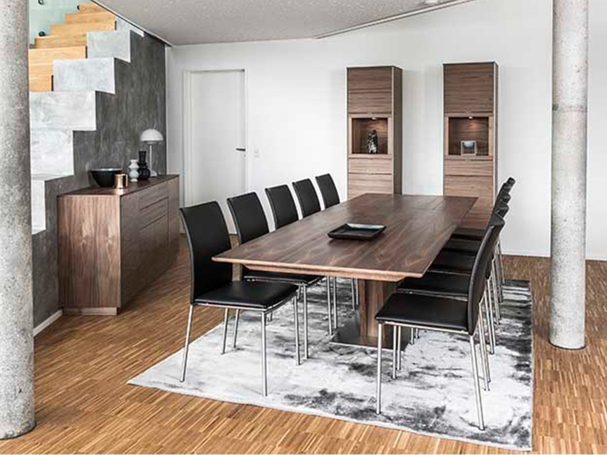 Sm 39 Dining Table Walnut Lacquer By, Walnut Dining Room