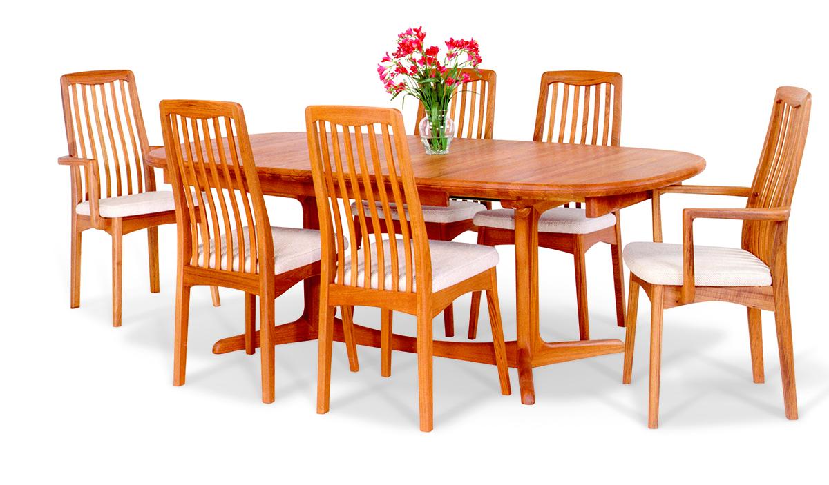 Model Bl 27 Teak Dining Table By Sun, Teak Dining Room Hutch